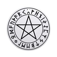 Rune Shield Pentacle Ornament (Round)