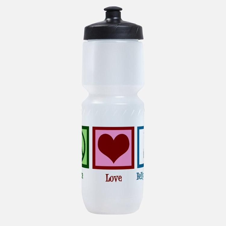 Peace Love Belly Dancing Sports Bottle