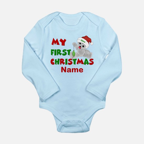 1st Christmas Bear Personalized Body Suit