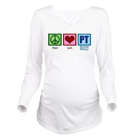 Peace Love PT Long Sleeve Maternity T-Shirt