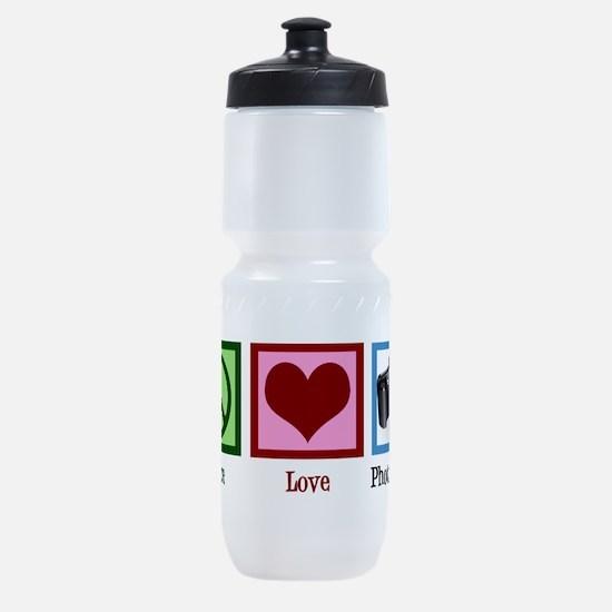 Peace Love Photography Sports Bottle