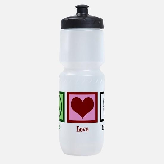 Peace Love Forensics Sports Bottle