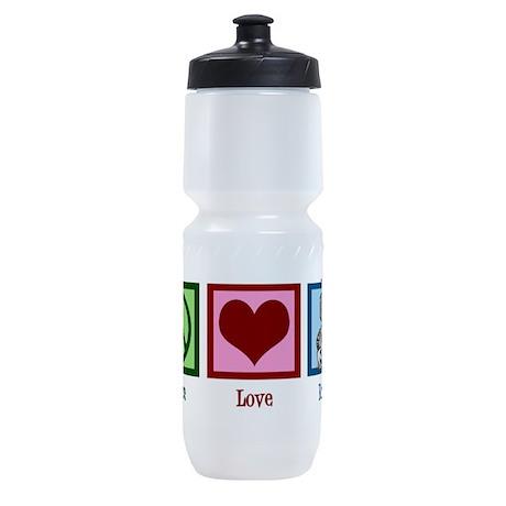 Peace Love Robots Sports Bottle