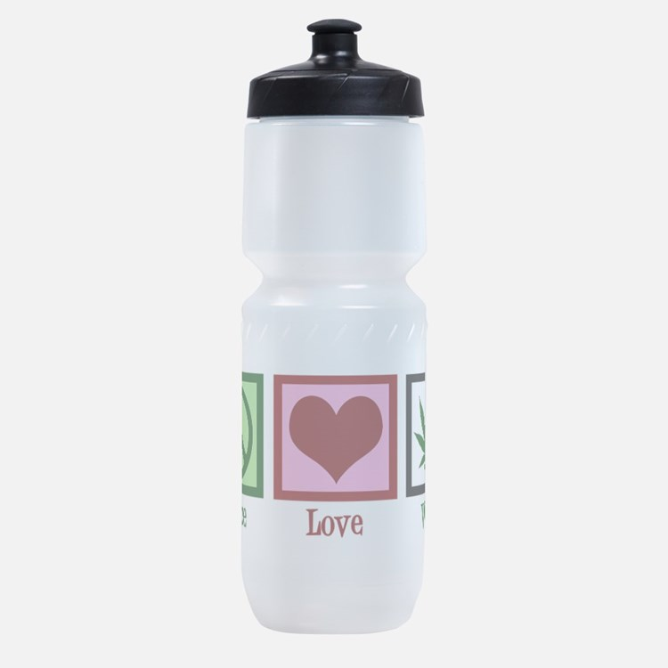Peace Love Weed Sports Bottle