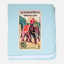 Vintage 1958 Laos Decorated Elephant Postage Stamp