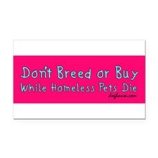 Cute Don't breed Rectangle Car Magnet