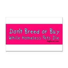 Funny Spay Rectangle Car Magnet
