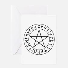 Rune Shield Pentacle Greeting Cards
