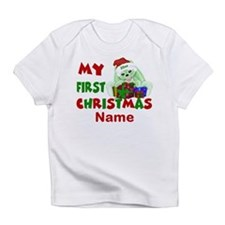 1st Christmas Bunny Personalized Infant T-Shirt
