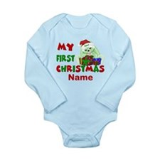 1st Christmas Bunny Personalized Body Suit