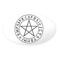Rune Shield Pentacle Decal
