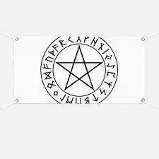 Rune Shield Pentacle Banner
