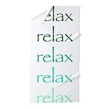 Yoga Greens Relax.Png Beach Towel