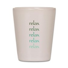 yoga greens relax.png Shot Glass