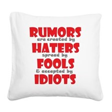 rumors Square Canvas Pillow