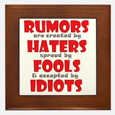 rumors Framed Tile