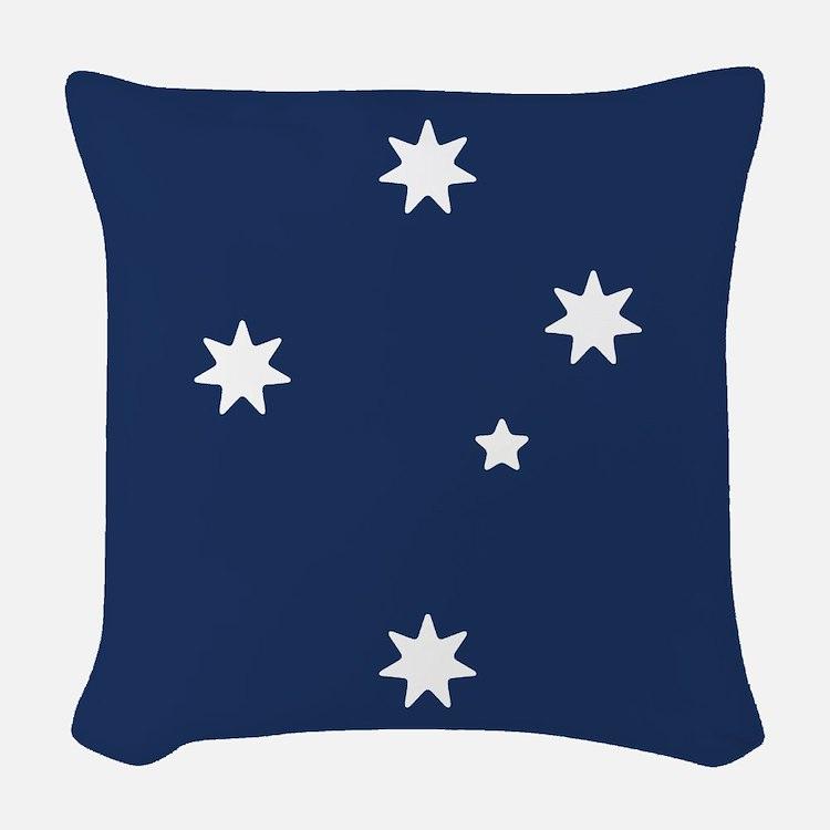 Southern Cross Stars Woven Throw Pillow
