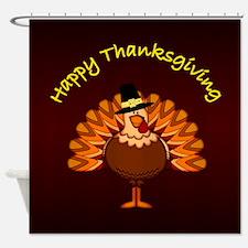Happy Thanksgiving Shower Curtain