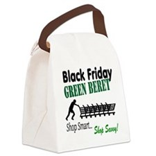Black Friday Green Beret Canvas Lunch Bag