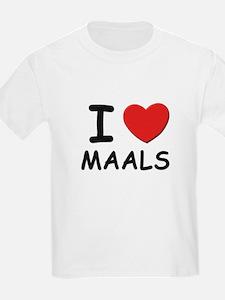 I love maals Kids T-Shirt