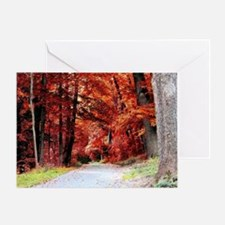 Into The Rustic Autumn Forest Greeting Card