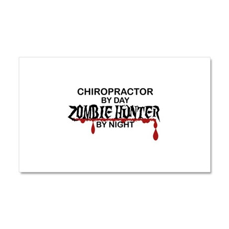 Zombie Hunter - Chiropractor Car Magnet 20 x 12