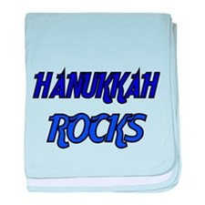 HANUKKAH ROCKS 3 baby blanket