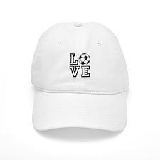 Love Soccer Baseball Baseball Cap