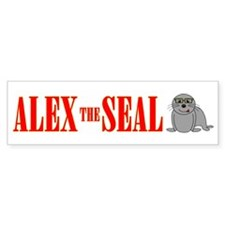 Alex The Seal Bumper Bumper Sticker