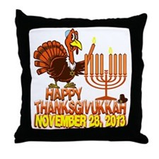 Happy Thanksgivukkah Throw Pillow