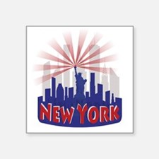new york 7 newwave patriot Sticker