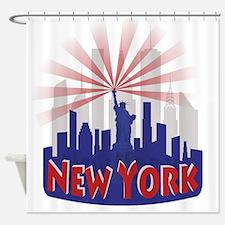 new york 7 newwave patriot Shower Curtain
