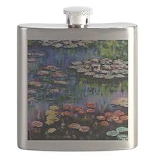 Monet Waterlilies Flask