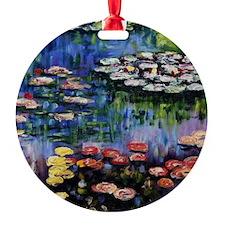 Monet Waterlilies Round Ornament