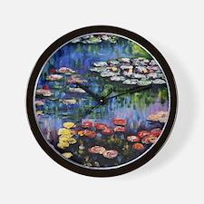 Monet Waterlilies Wall Clock