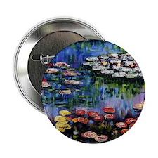 """Monet Waterlilies 2.25"""" Button"""