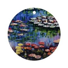 Monet Waterlilies Round Ornament
