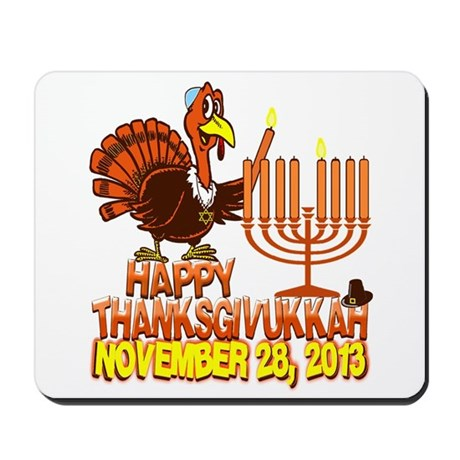 Happy Thanksgivukkah Mousepad
