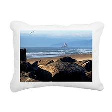 Day at the beach Rectangular Canvas Pillow