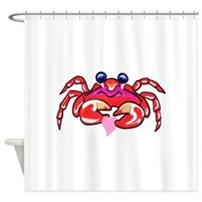 Red Crab Heart.Png Shower Curtain