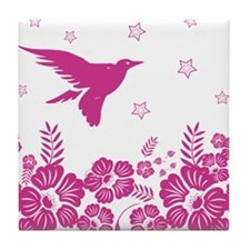 Fashionable Oriental Inspired flying bird Tile Coa