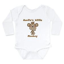 Auntie's Little Monkey Long Sleeve Infant Bodysuit