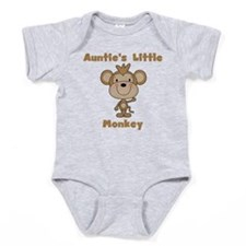 Auntie's Little Monkey Baby Bodysuit