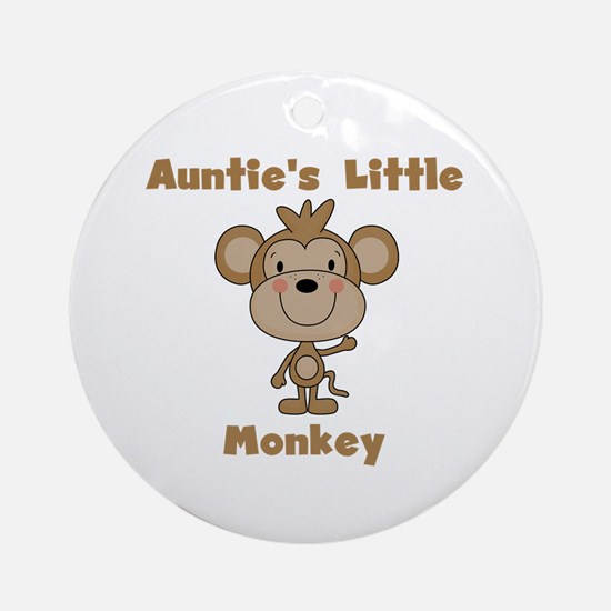 Auntie's Little Monkey Ornament (Round)
