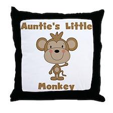 Auntie's Little Monkey Throw Pillow