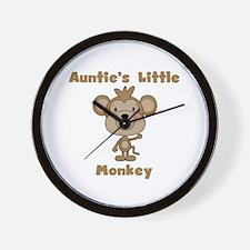 Auntie's Little Monkey Wall Clock
