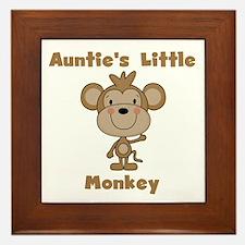 Auntie's Little Monkey Framed Tile