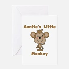 Auntie's Little Monkey Greeting Card