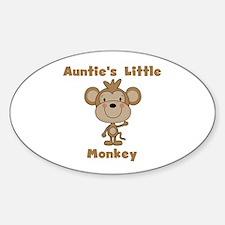 Auntie's Little Monkey Sticker (Oval)