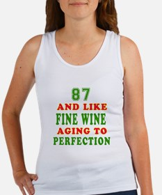 Funny 87 And Like Fine Wine Birthday Women's Tank